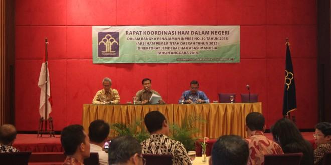 Penajaman Aksi HAM 2015 bersama Kepala Biro Hukum dan Bappeda se-Indonesia