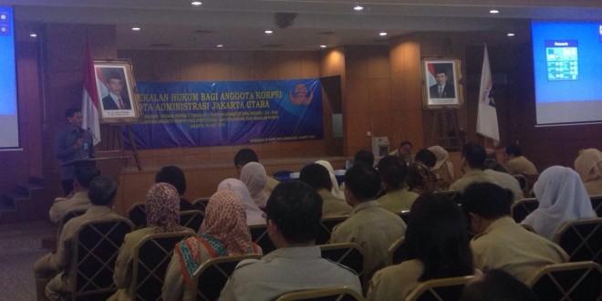 Pembekalan hukum bagi anggota korpri kota administrasi Jakarta Utara