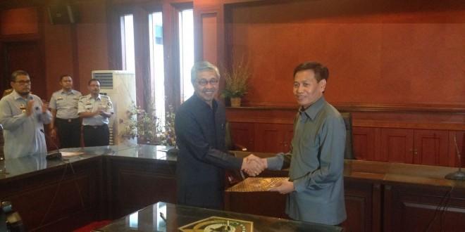 Penandatanganan MoU antara Dirjen HAM dengan Gubernur Provinsi Sulawesi Tenggara