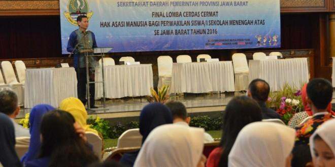 Final Lomba Cerdas Cermat HAM bagi perwakilan siswa/i SMA se Jawa Barat Tahun 2016