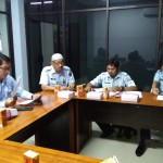 Kepala DIvisi Pelayanan Hukum dan HAM saat membuka Rapat Persiapan Pengumpulan dan Pengolahan Data Implementasi HAM di WIlayah