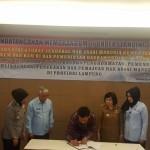 Penandatanganan MOU antara Ditjen HAM dg Pemda Lampung 31Jan17