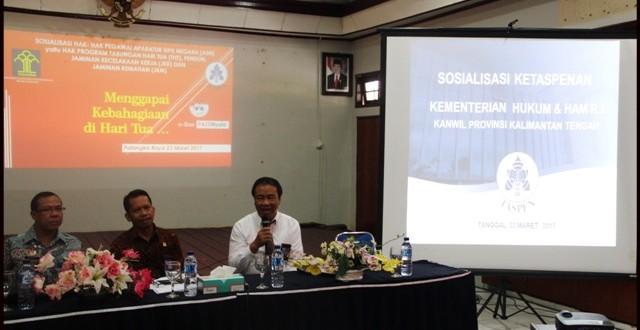 Kantor Wilayah jalin kerjasama dengan PT.TASPEN mengadakan sosialisasi tentang Hak-Hak Pegawai