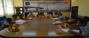 Kepala Bidang HAM Kanwil Jambi Drs.Sukowijono membuka rapat kegiatan