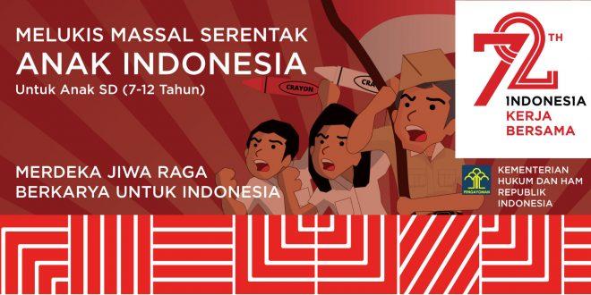 Ikutilah Melukis Massal Serentak Anak Indonesia
