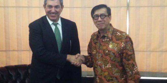 Menkumham-Perwakilan Uni Eropa untuk HAM Bahas Penegakan HAM di Indonesia