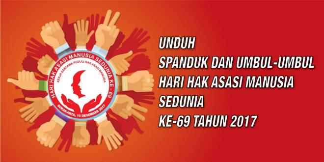 Spanduk dan Umbul-Umbul Peringatan Hari HAM Sedunia ke-69 Tahun 2017