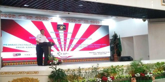 Dirjen HAM arahkan CPNS Kanwil Kemenkumham Riau berikan Pelayanan yang Adil