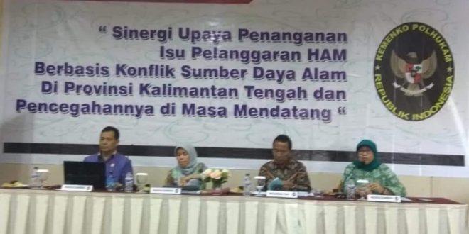 Sinergi Penanganan Isu Pelanggaran HAM Berbasis konflik Sumber Daya Alam di Provinsi Kalimantan Tengah dan Pencegahannya di Masa Mendatang