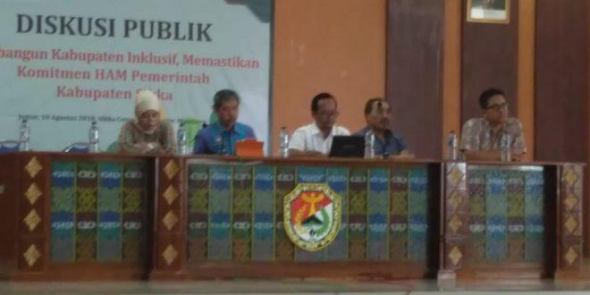 """Diskusi Publik """"Membangun Kabupaten Inklusif, Memastikan Komitmen HAM Pemerintah Kabupaten Sikka"""""""