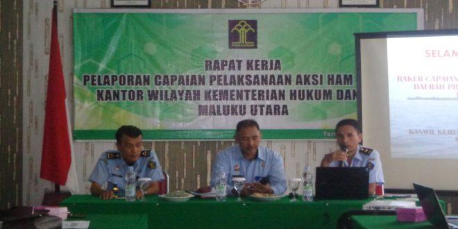 Raker Pelaporan Aksi HAM Kanwil Kemenkumham Maluku Utara
