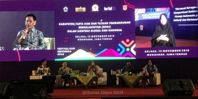 Dirjen HAM Sampaikan Sambutan pada Festival HAM 2018