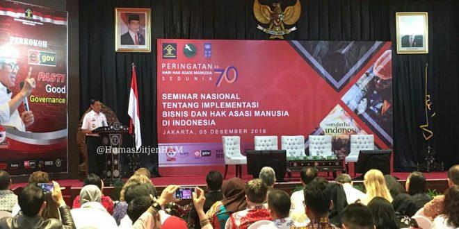 Seminar Nasional Tentang Implementasi Bisnis dan HAM di Indonesia